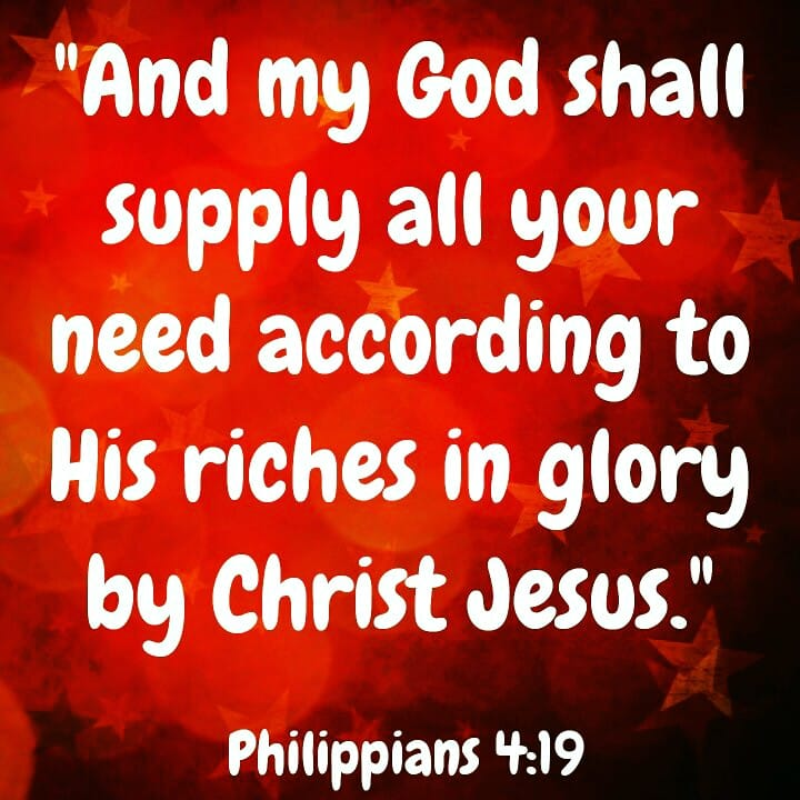 My God Shall Supply All Your Need